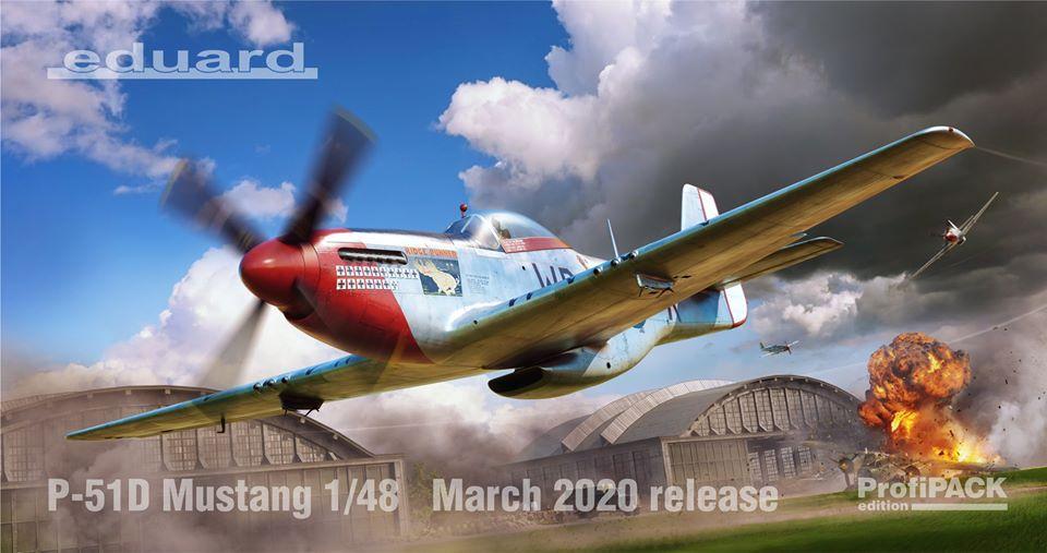 Boxart pro čtvrtkovou stavebnici P-51D Mustang